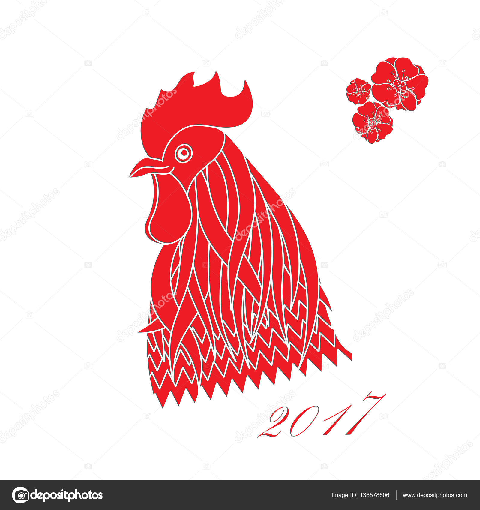The Chinese New Year Openwork White Paper Card Stencil Design With