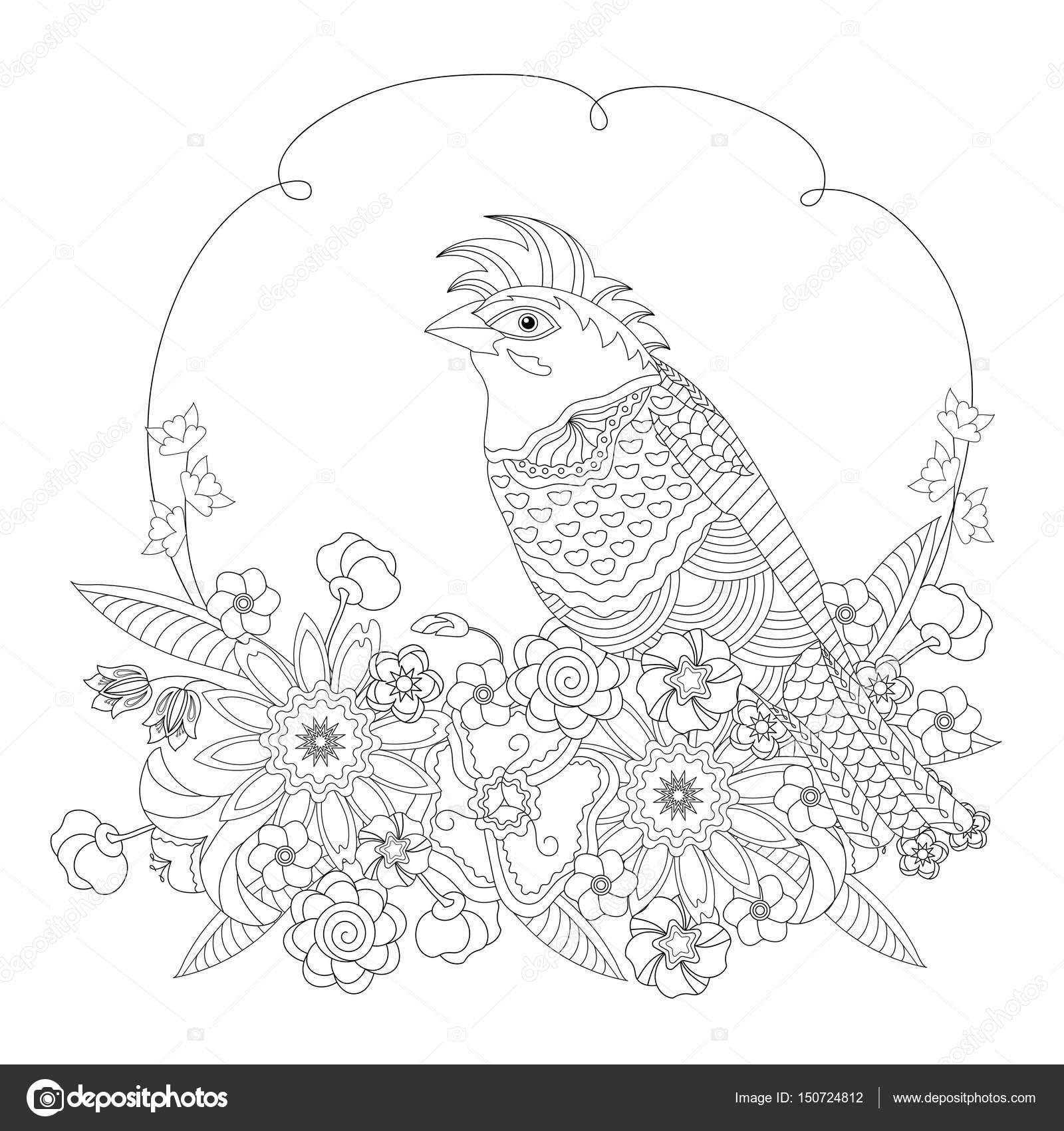 Animales De Fantasia Libro Aves De Fantasía De Flores Libro Para