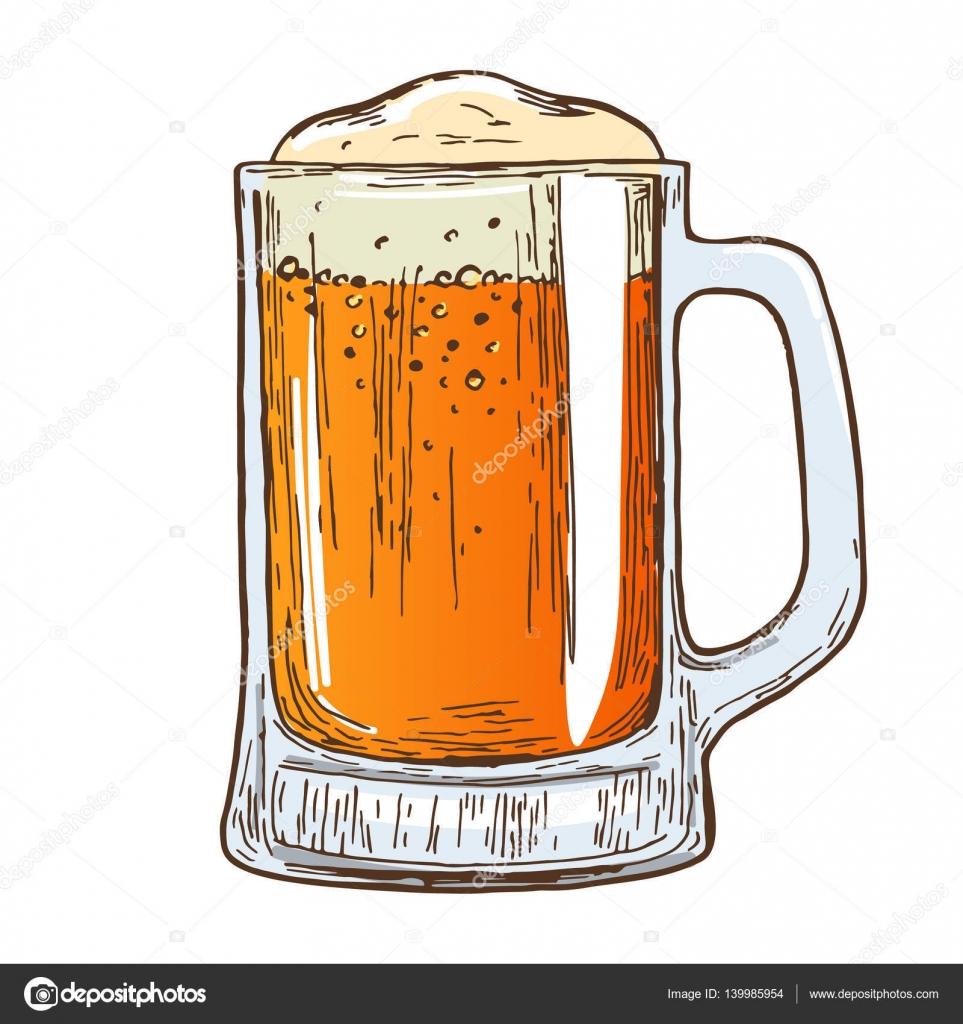 Boccale Di Birra Su Sfondo Bianco Vettoriali Stock Alffisky