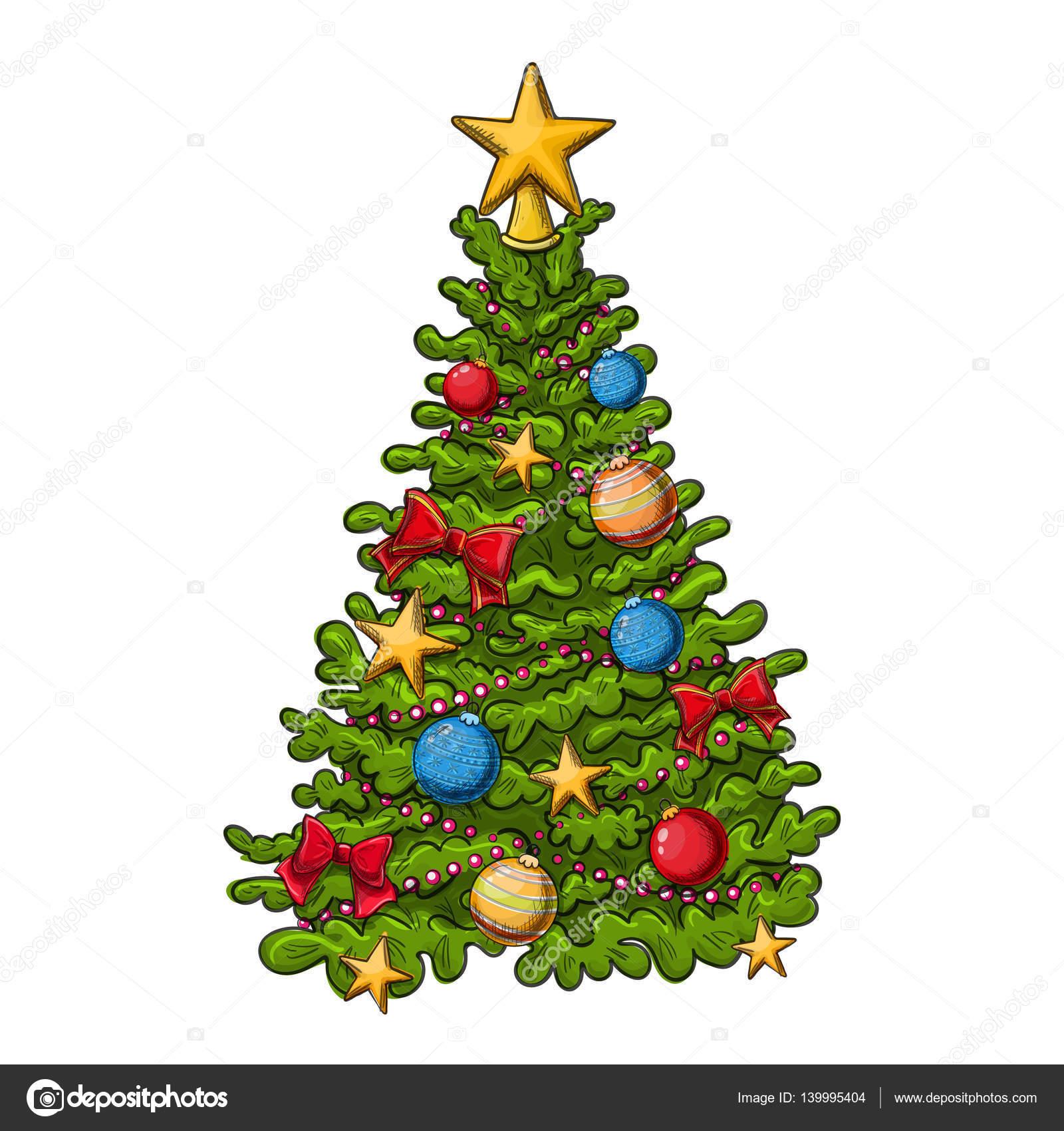 Albero Di Natale Disegno.Albero Di Natale Disegno Vettoriali Stock C Alffisky Gmail
