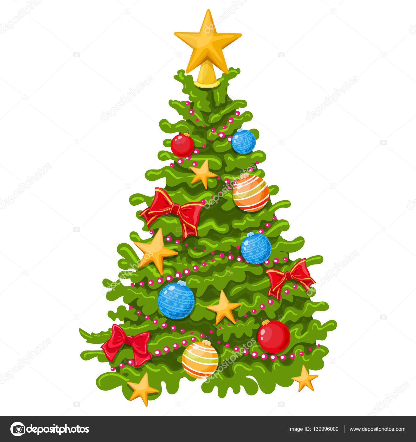 Colorful Christmas Tree Stock Vector C Alffisky Gmail Com 139996000