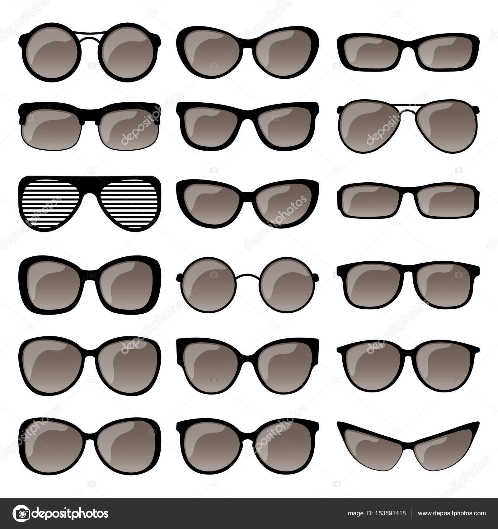 Conjunto de marcos de gafas de sol — Archivo Imágenes Vectoriales ...