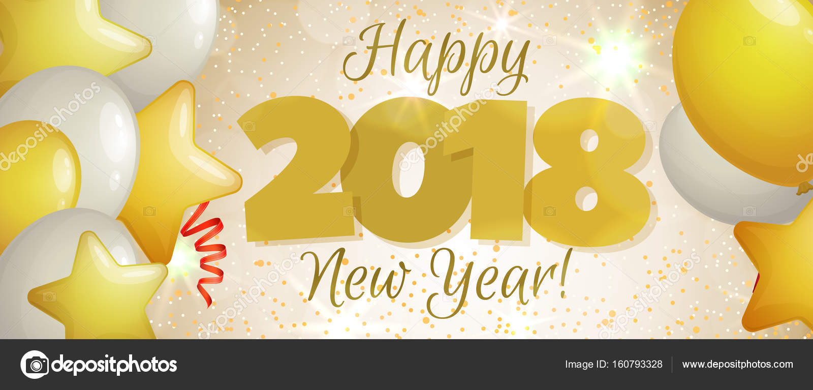 new year 2018 banner stock vector