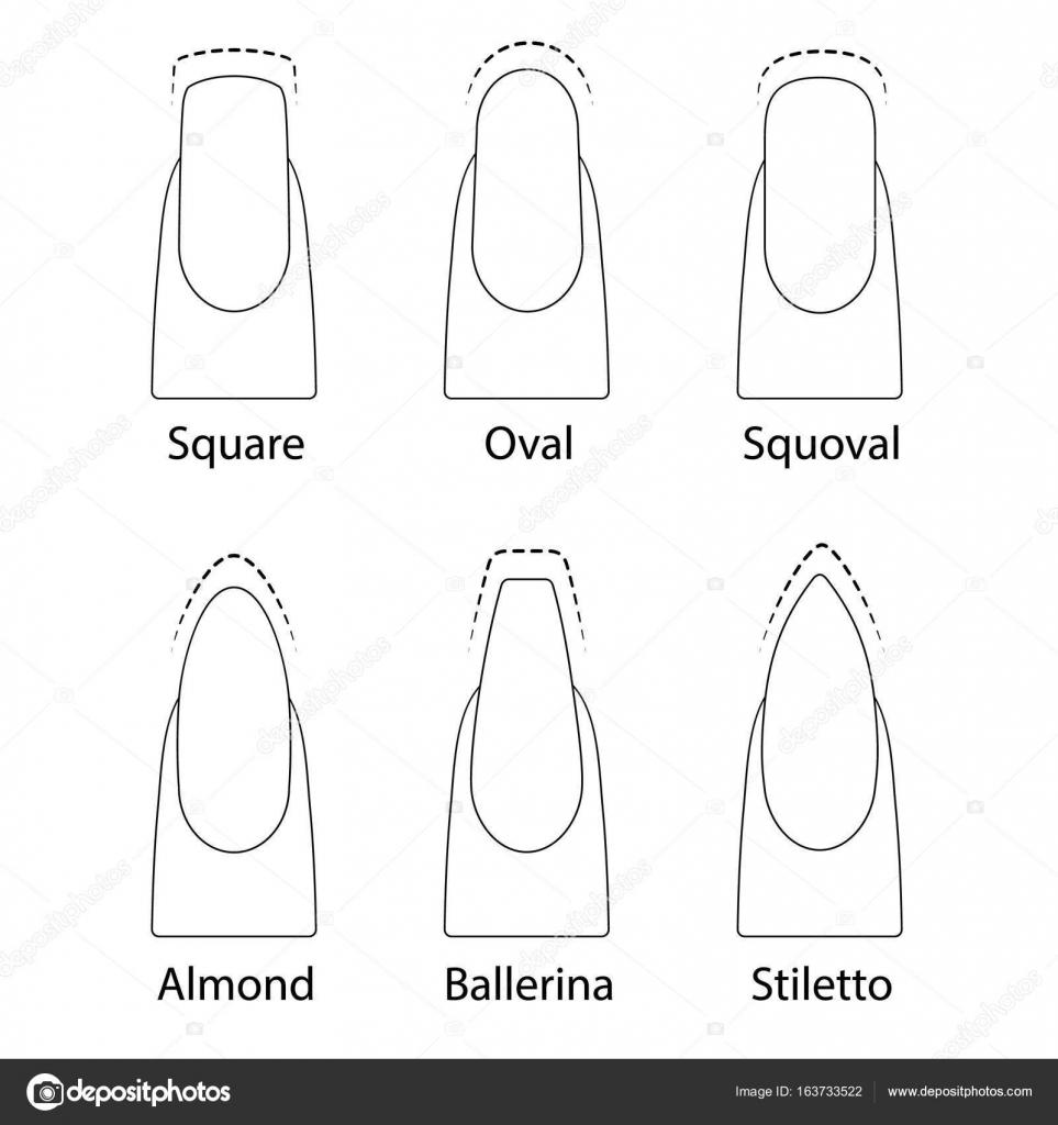 Conjunto de formas de uñas — Archivo Imágenes Vectoriales © alffisky ...