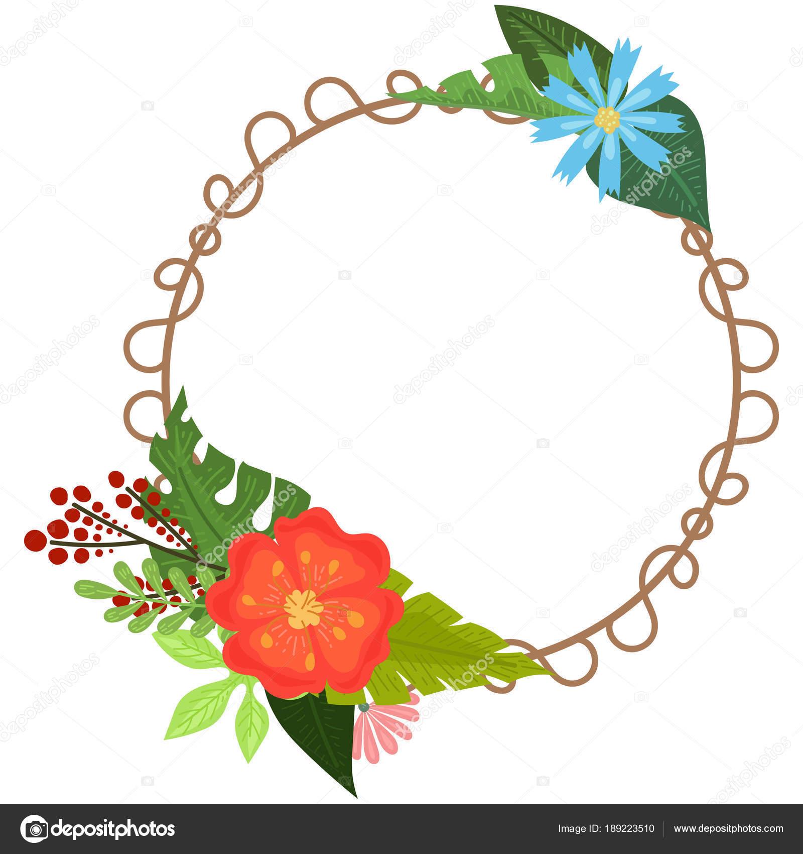 Tropical flowers frames — Stock Vector