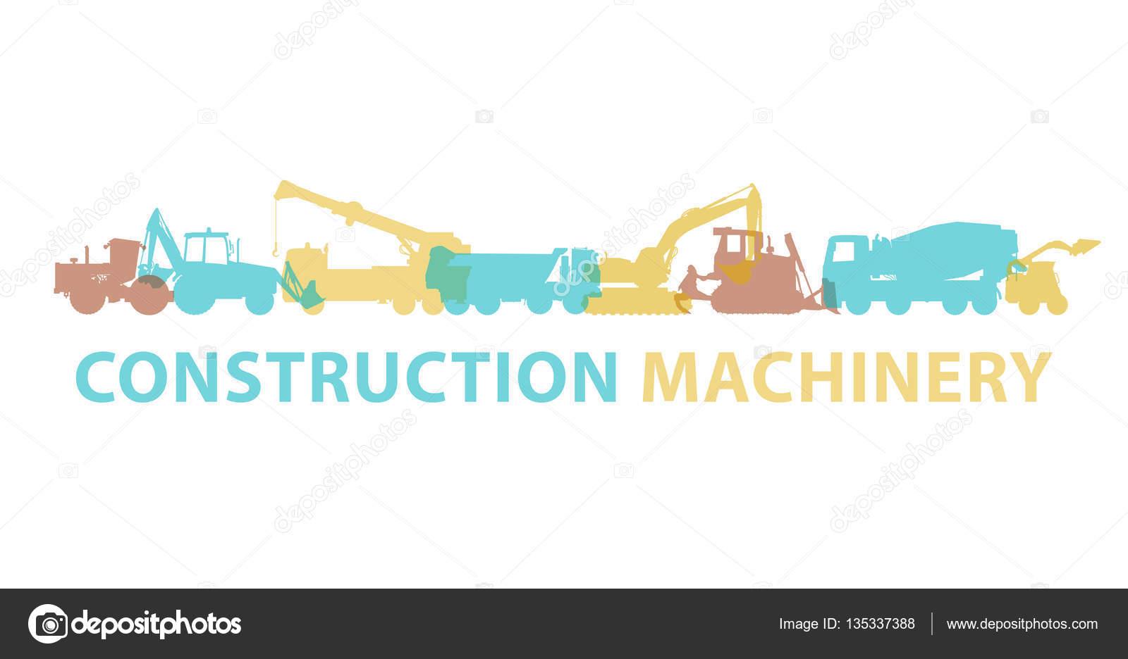 Bau Maschinen Symbol Symbol. Boden funktioniert Zeichen. Maschinen ...