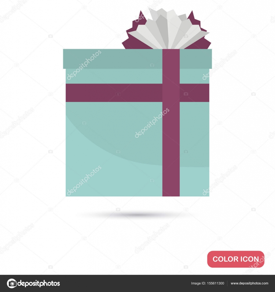 Gift box color flat icon for web and mobile design stock vector gift box color flat icon for web and mobile design stock vector negle Gallery