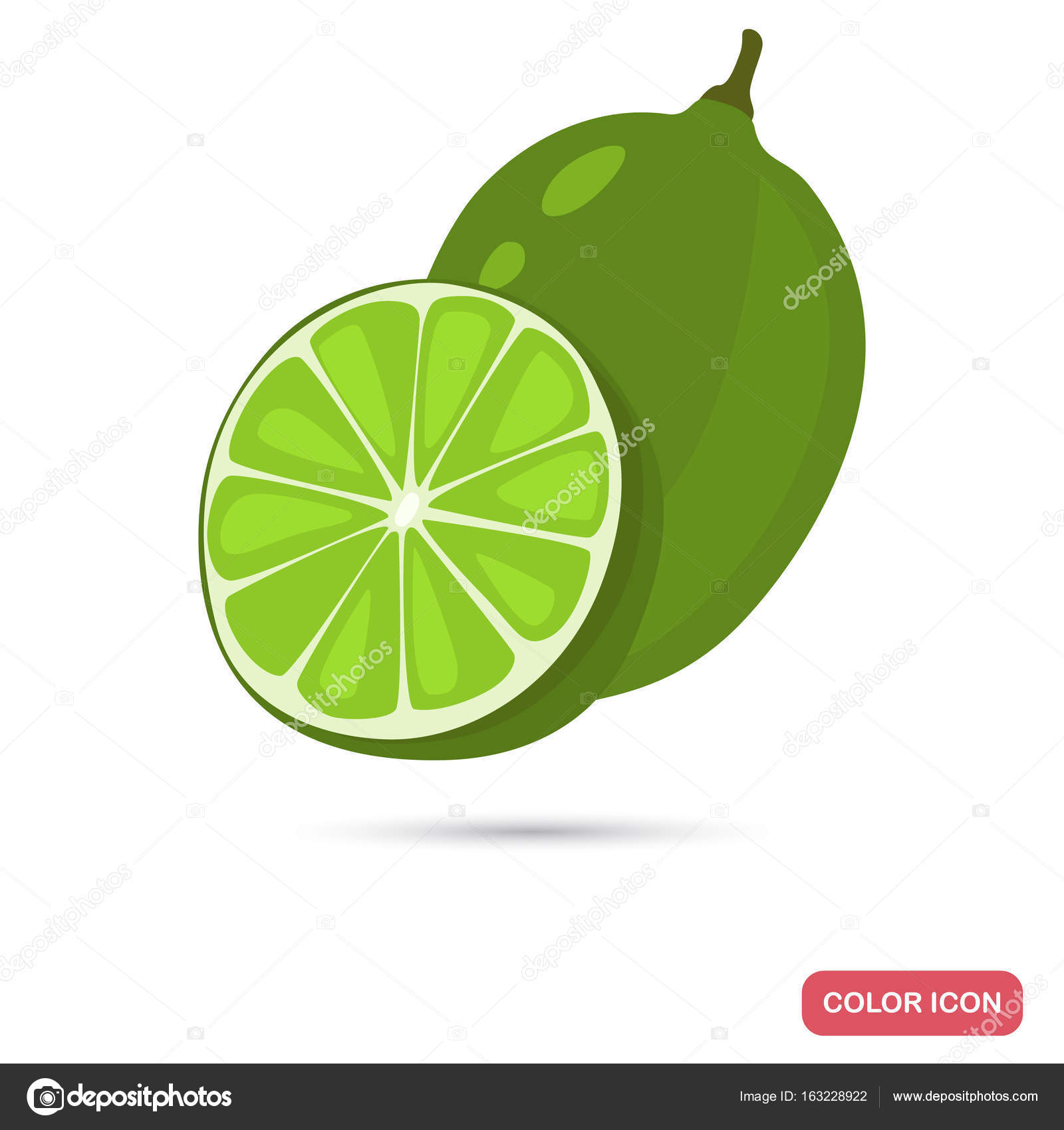 Web colors lime - Lime Color Flat Icon For Web And Mobile Design Stock Vector 163228922
