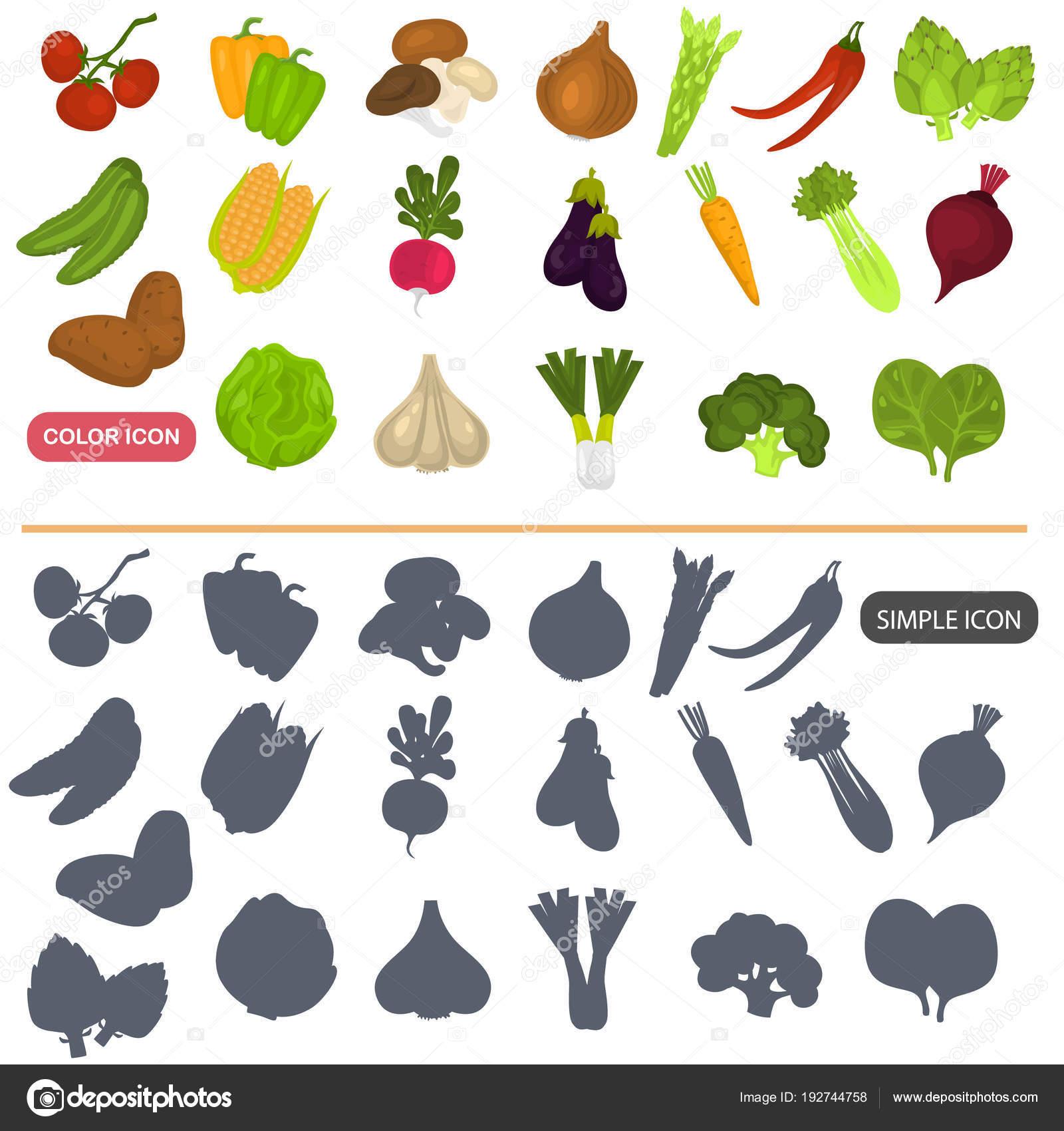 Gemüse Farbe flach und einfache Icons set für Web und mobile design ...