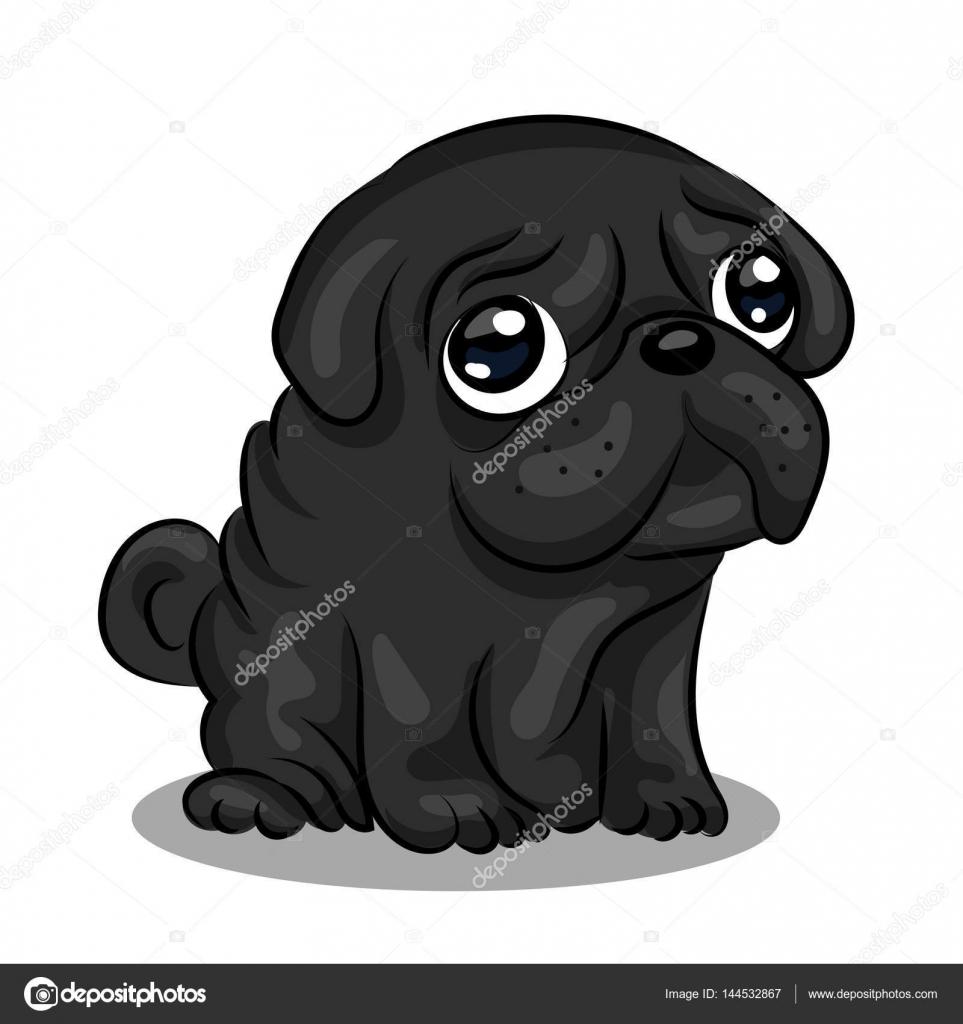 黒パグ犬赤ちゃん ストックベクター Yasyarikgmailcom 144532867