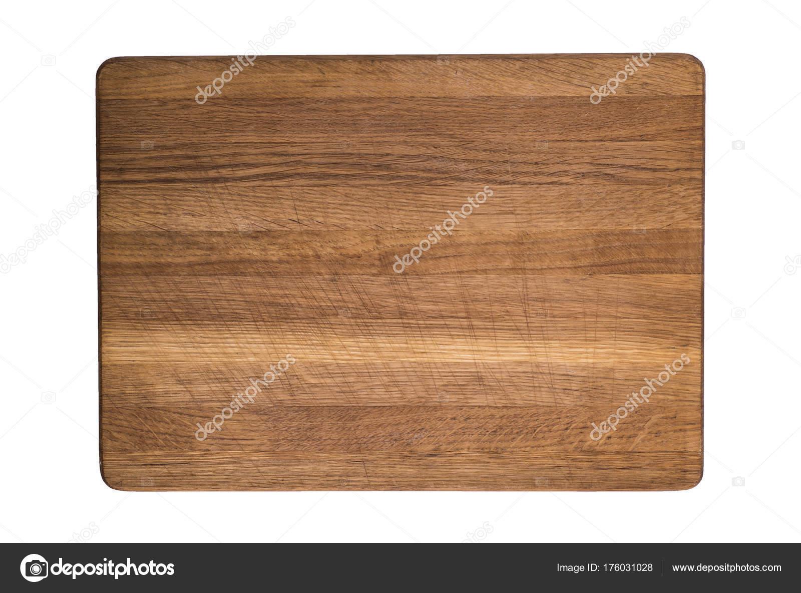 Oude houten keuken snijplank geïsoleerd op witte achtergrond