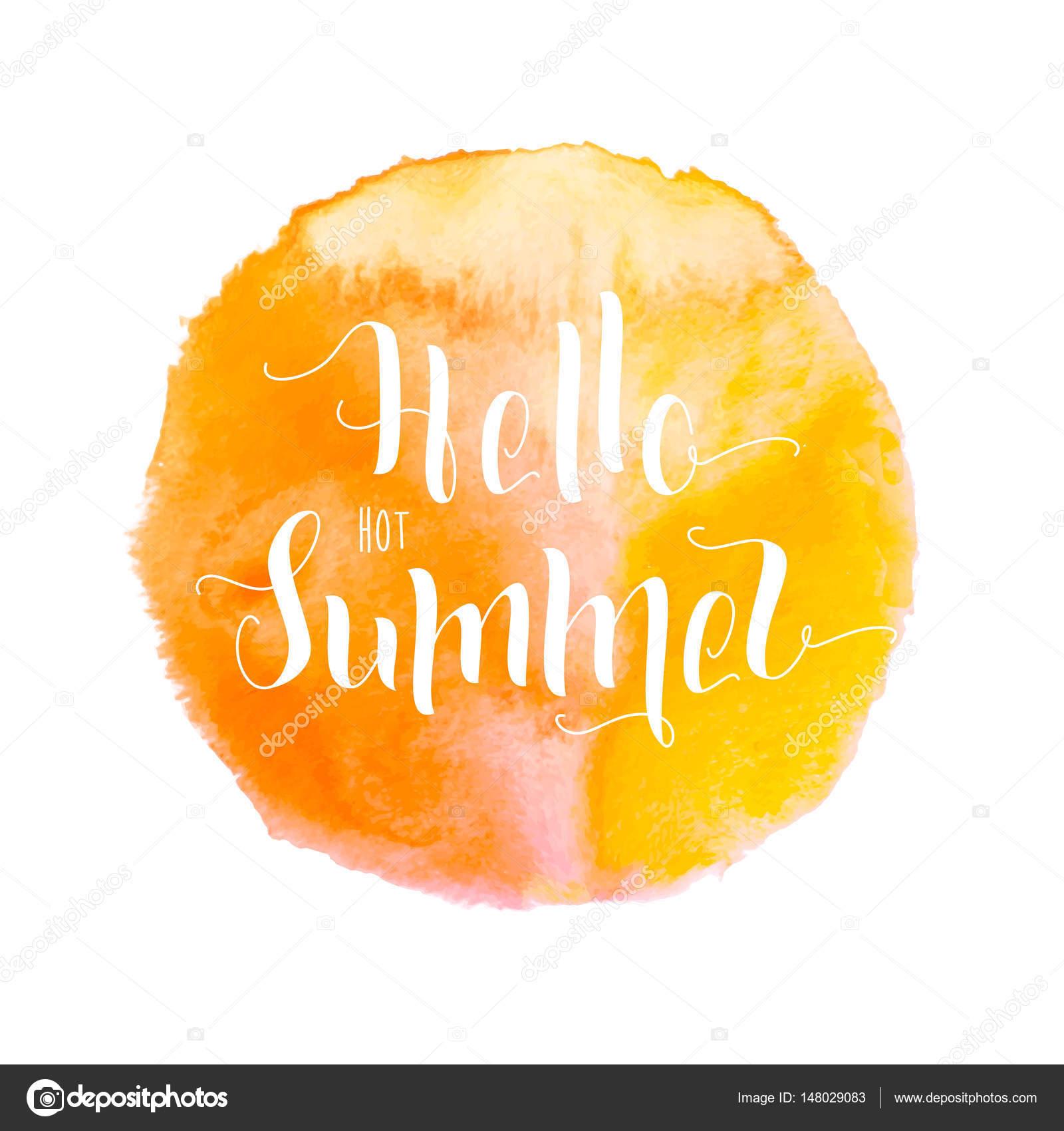 Aquarelle jaune-orange couleur Peinture tache vecteur fond pour ...
