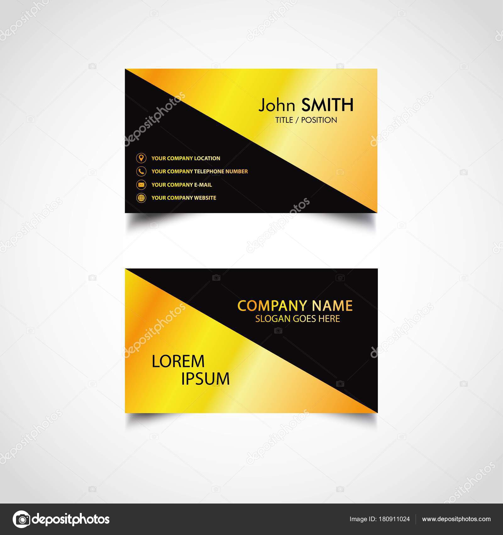 Golden business card template vector illustration eps file stock golden business card template vector illustration eps file stock vector cheaphphosting Gallery