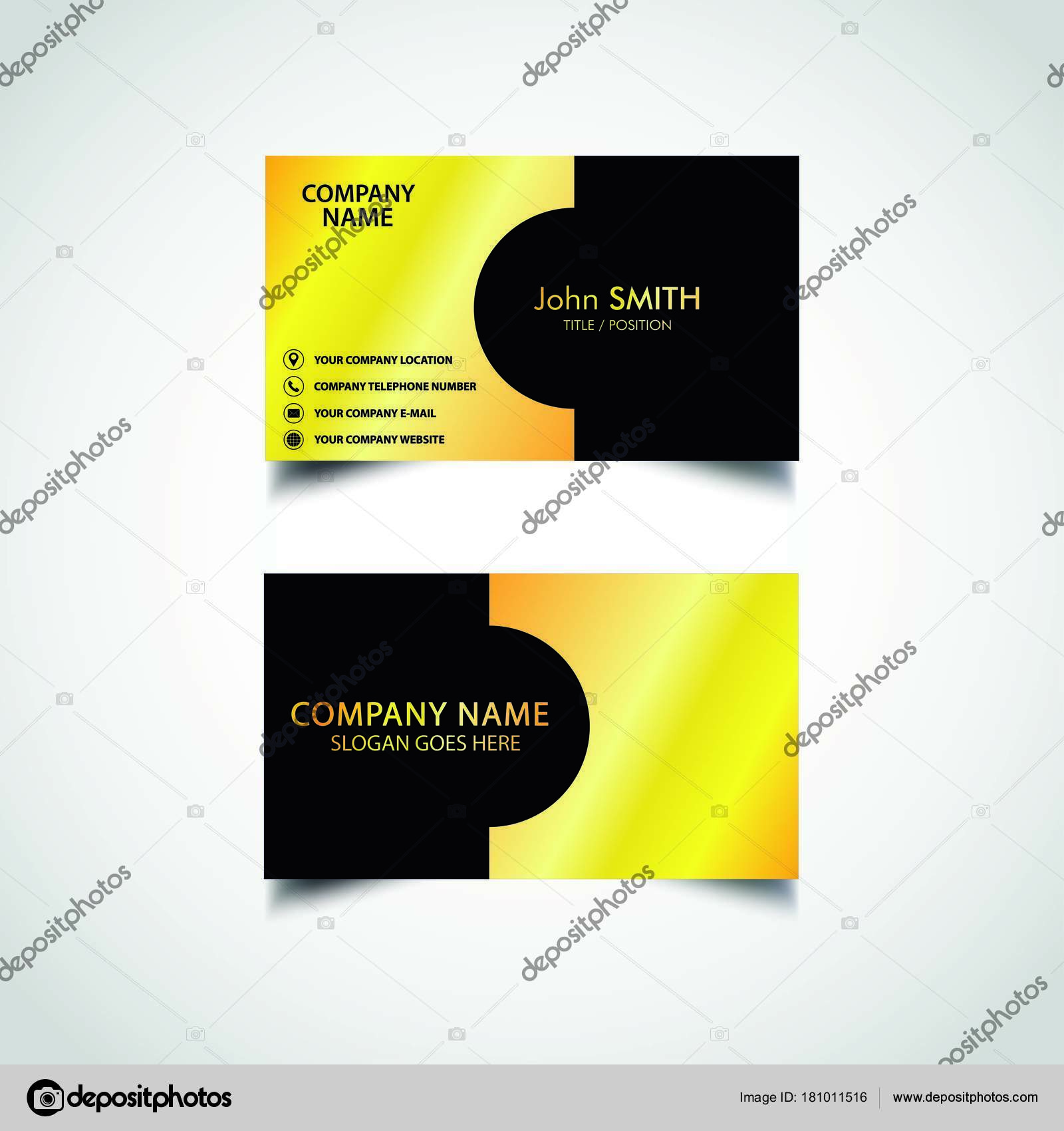 Golden business card template vector illustration eps file stock golden business card template vector illustration eps file stock vector friedricerecipe Gallery