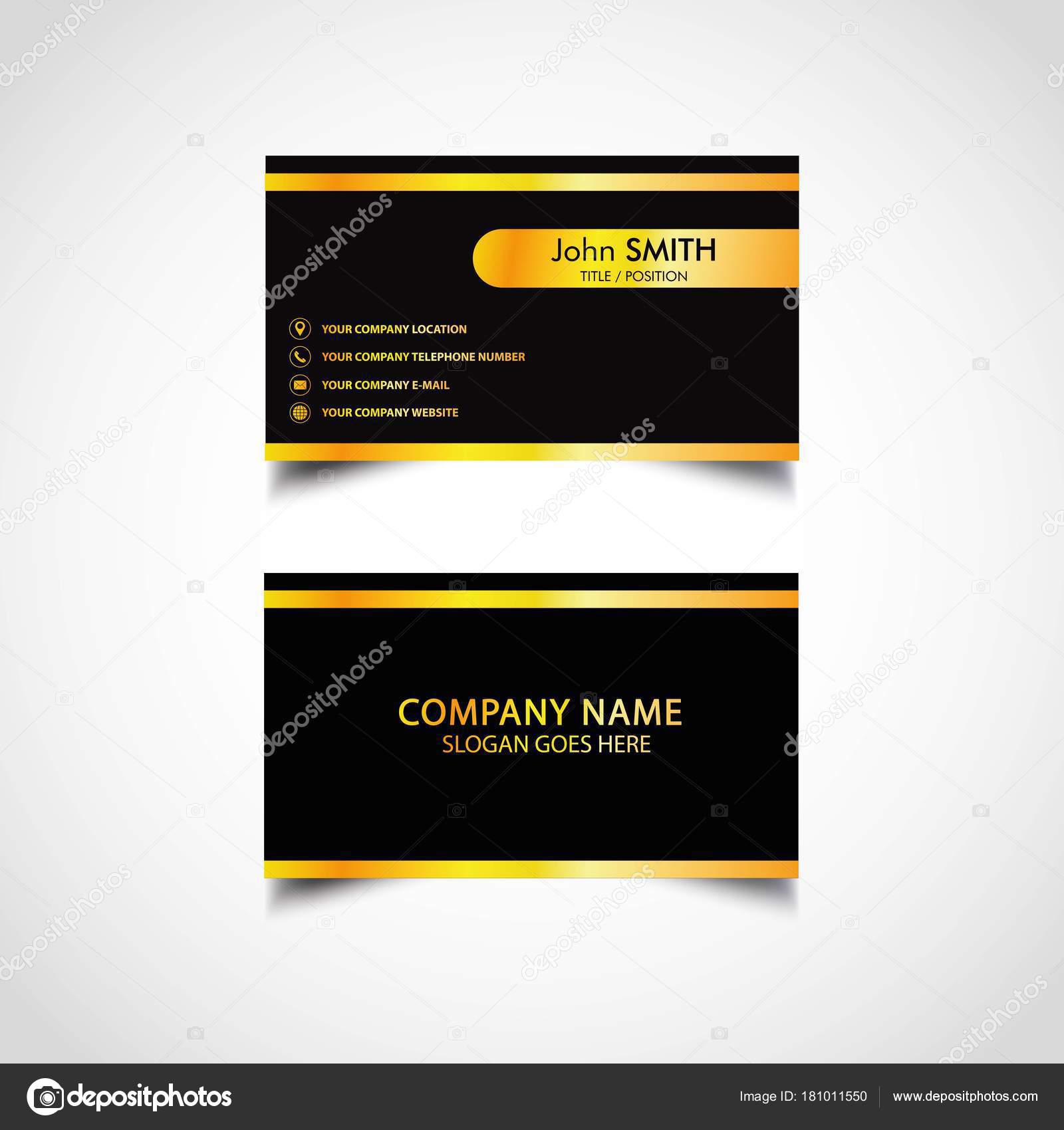 Golden business card template vector illustration eps file stock golden business card template vector illustration eps file stock vector flashek Images