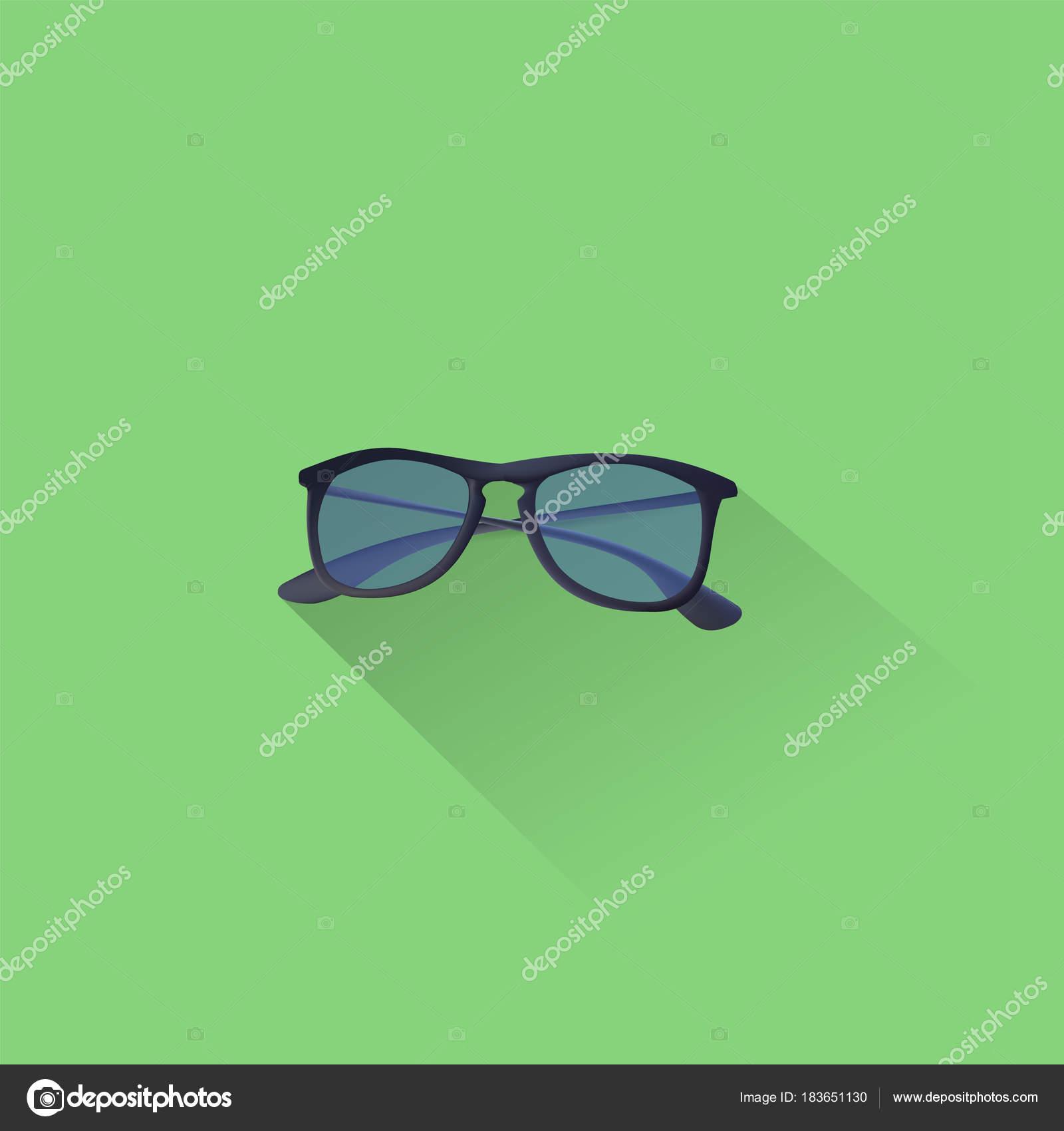 12776f3aa3e52 Óculos Sol Simples Ícone Fundo Verde Vetorial Ilustração Arquivo Eps ...