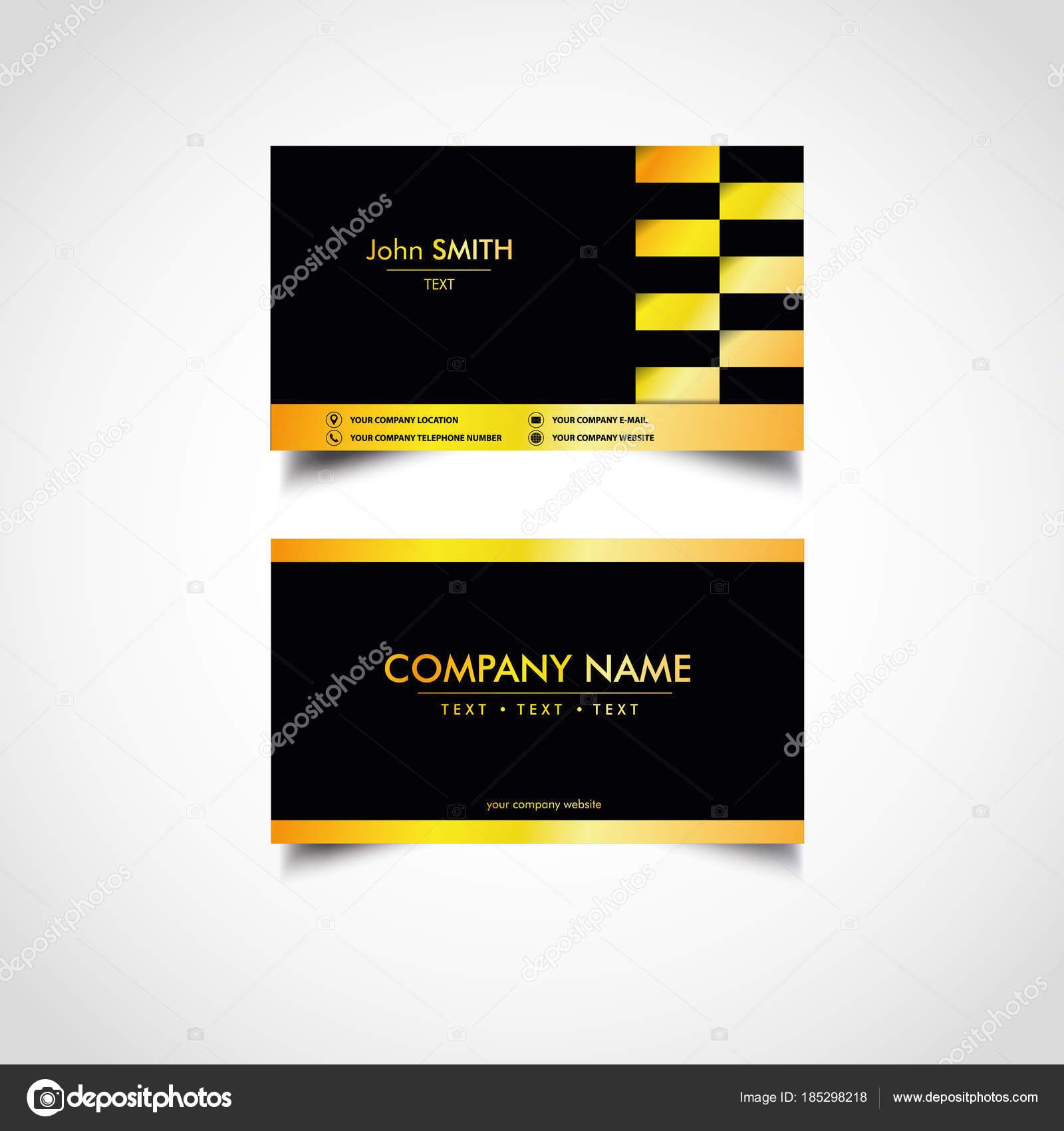 Golden Luxus Visitenkarten Vorlagen Vektor Abbildung