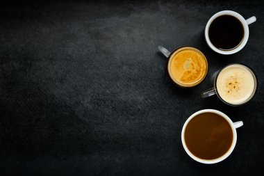 Different Coffee Types with Copy Space