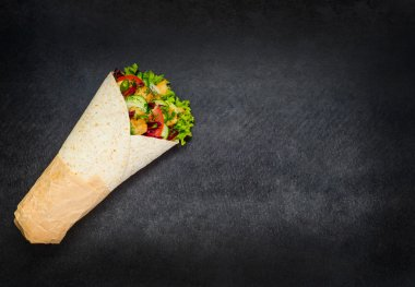Shawarma with Copy Space
