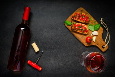 Rose Wine with Bruschetta