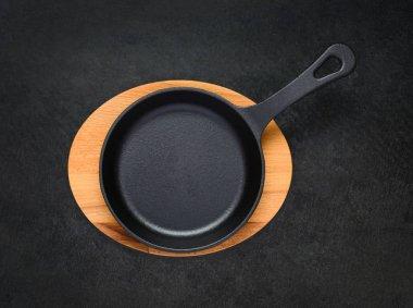 Frying Pan in Top View