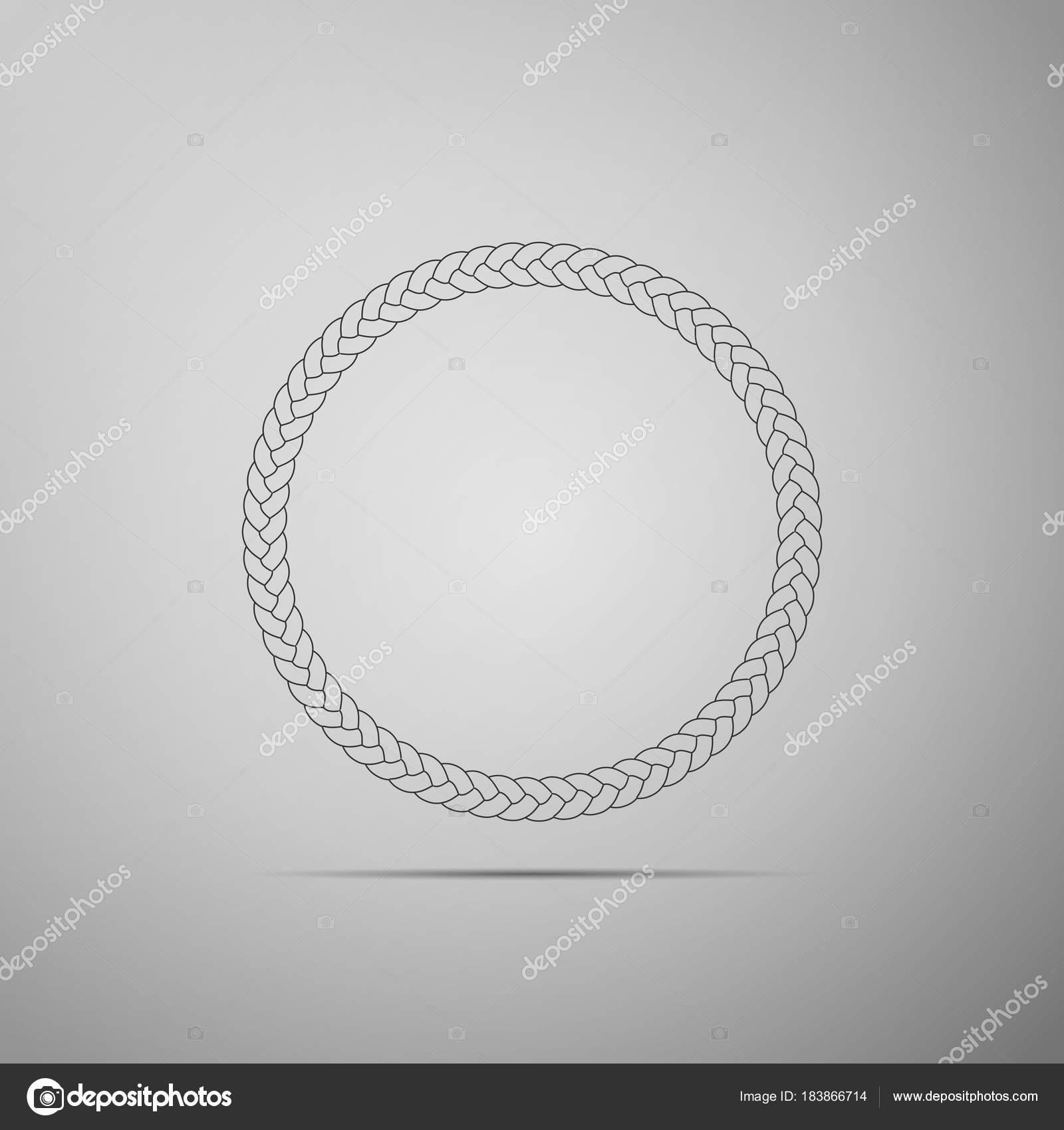 Seil-Frame-Symbol auf grauem Hintergrund isoliert. Rahmen von ...
