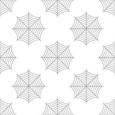 Spider web icon seamless pattern on white background. Cobweb sign. Flat design. Vector Illustration