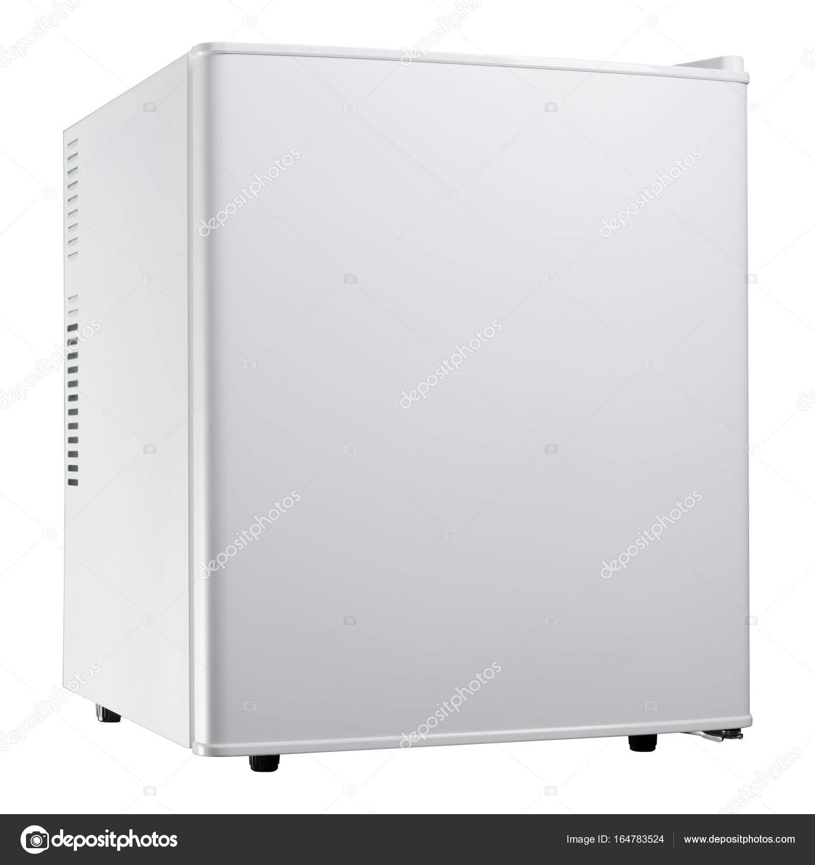 weiße kleine Kühlschrank bei geschlossener Tür — Stockfoto ...