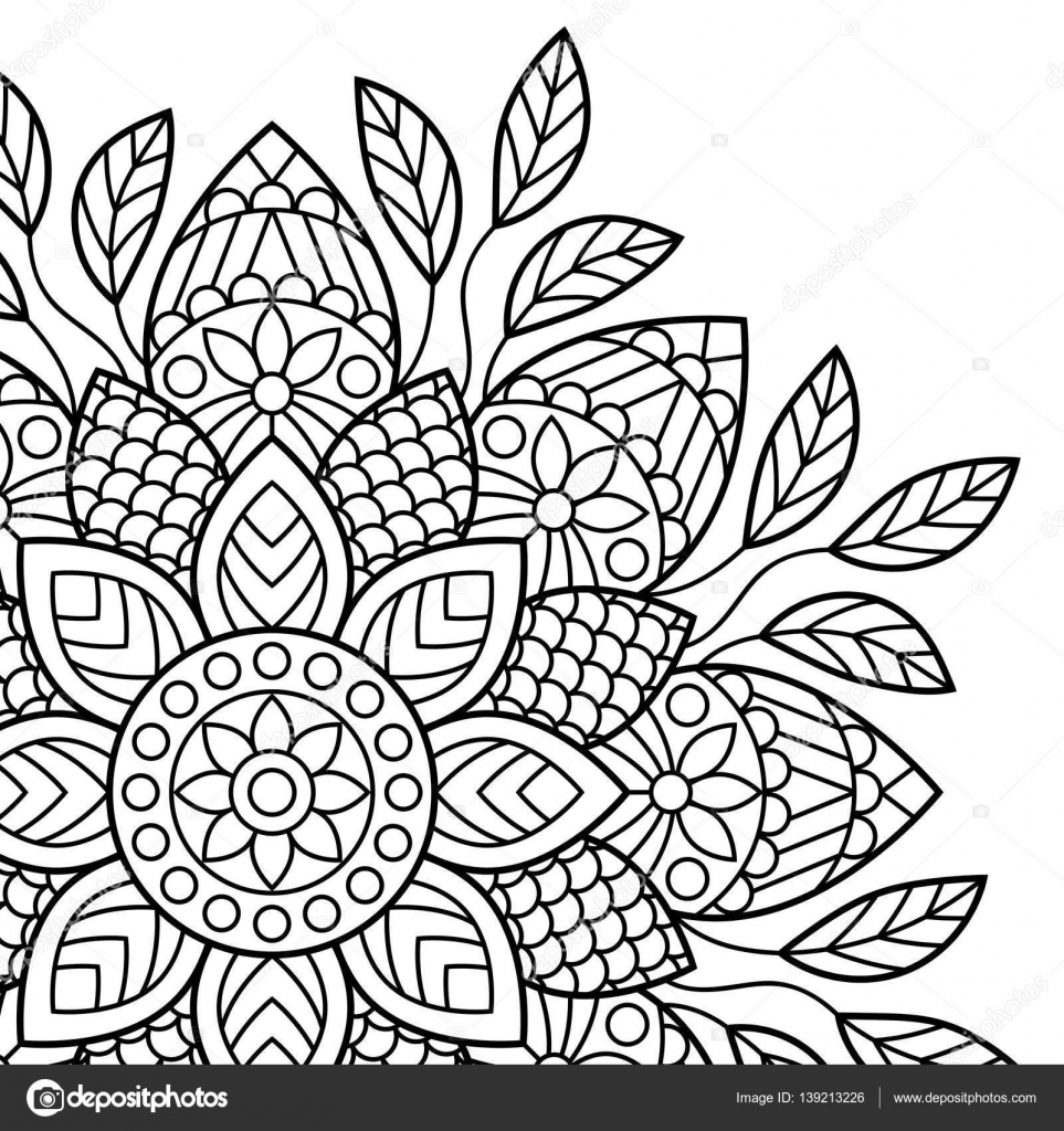 Mandala. Malvorlagen Buch — Stockvektor © jelisua88 #139213226