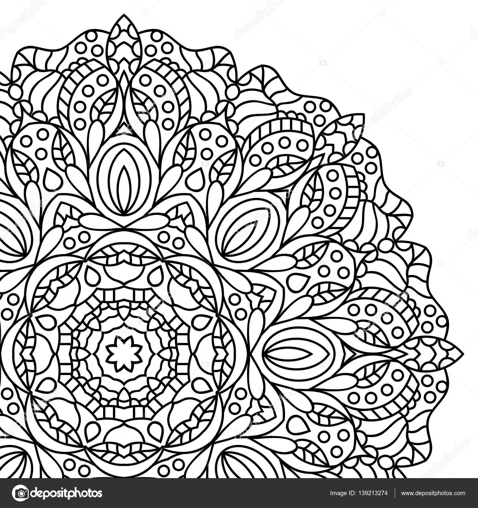 Mandala Boyama Kitabı Sayfaları Stok Vektör Jelisua88 139213274