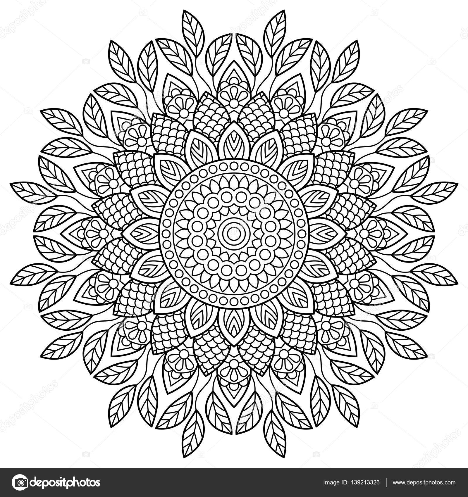 Mandala. Coloring book pages — Stock Vector © jelisua88 #139213326