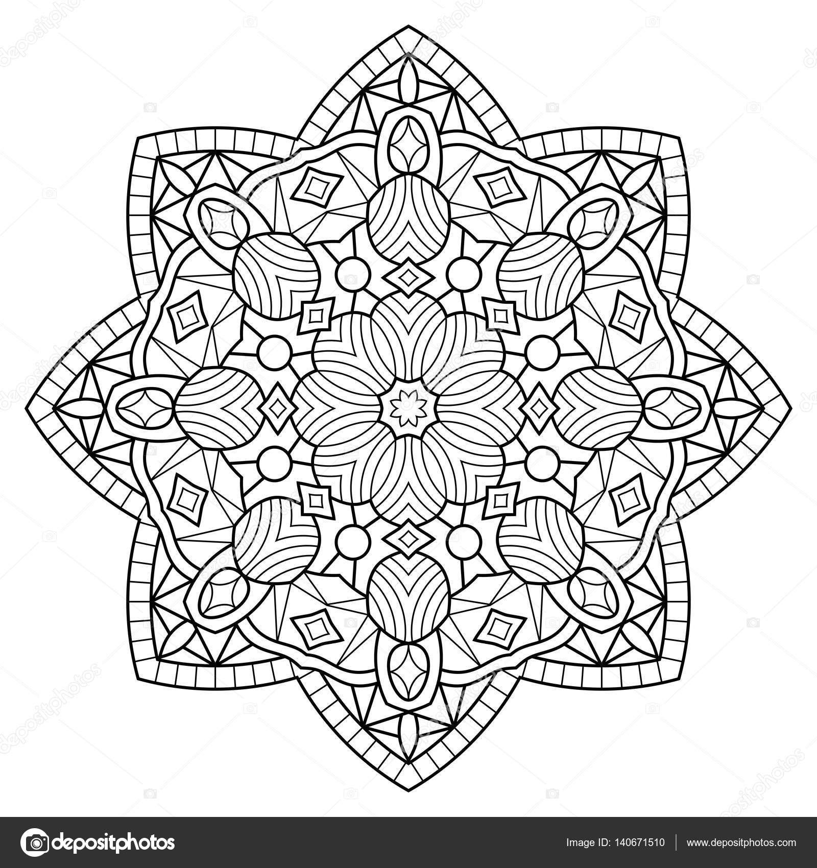 Mandala. Malvorlagen Buch — Stockvektor © jelisua88 #140671510