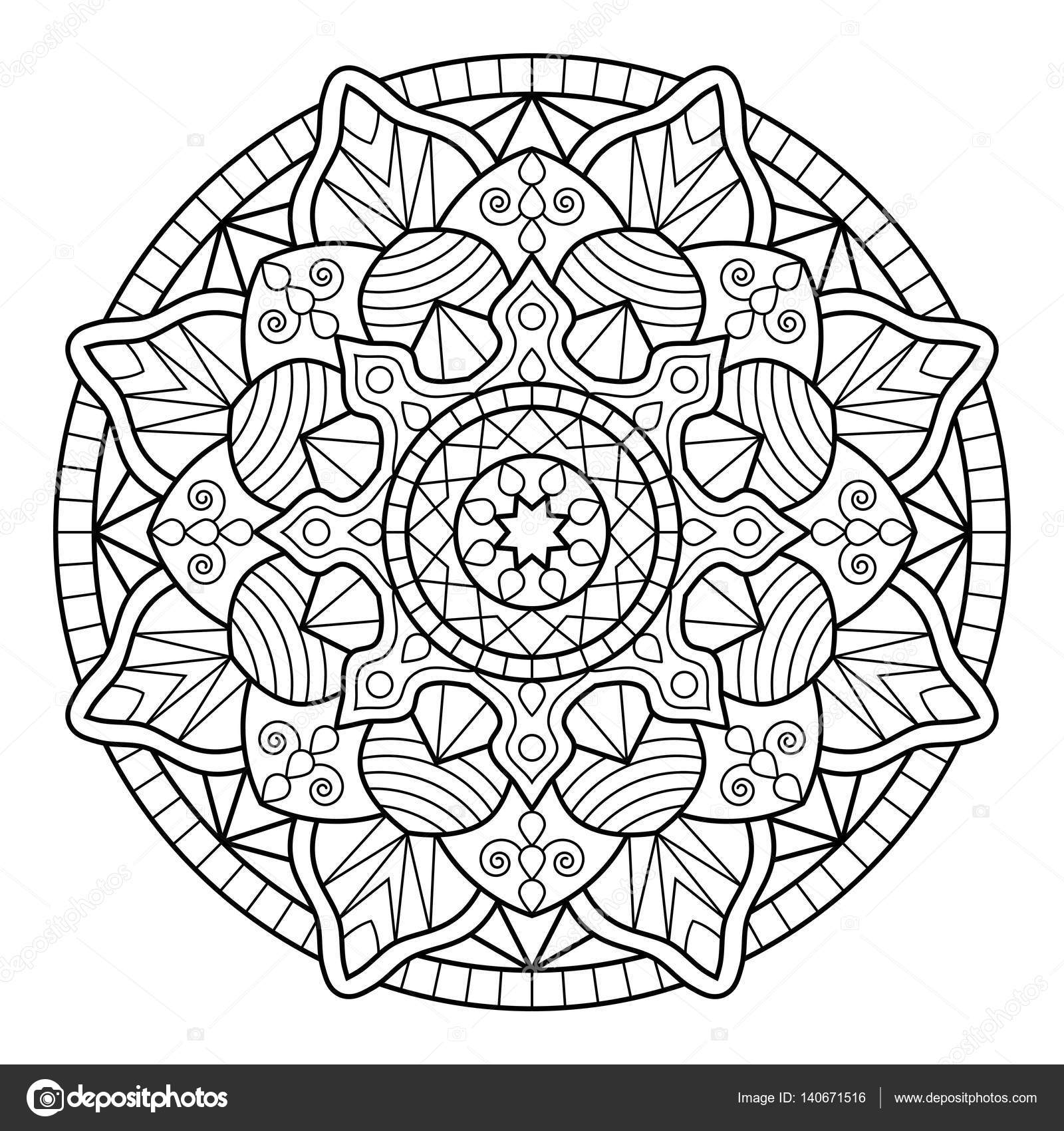 Mandala Coloring Book Pages Stock Vector C Jelisua88 140671516