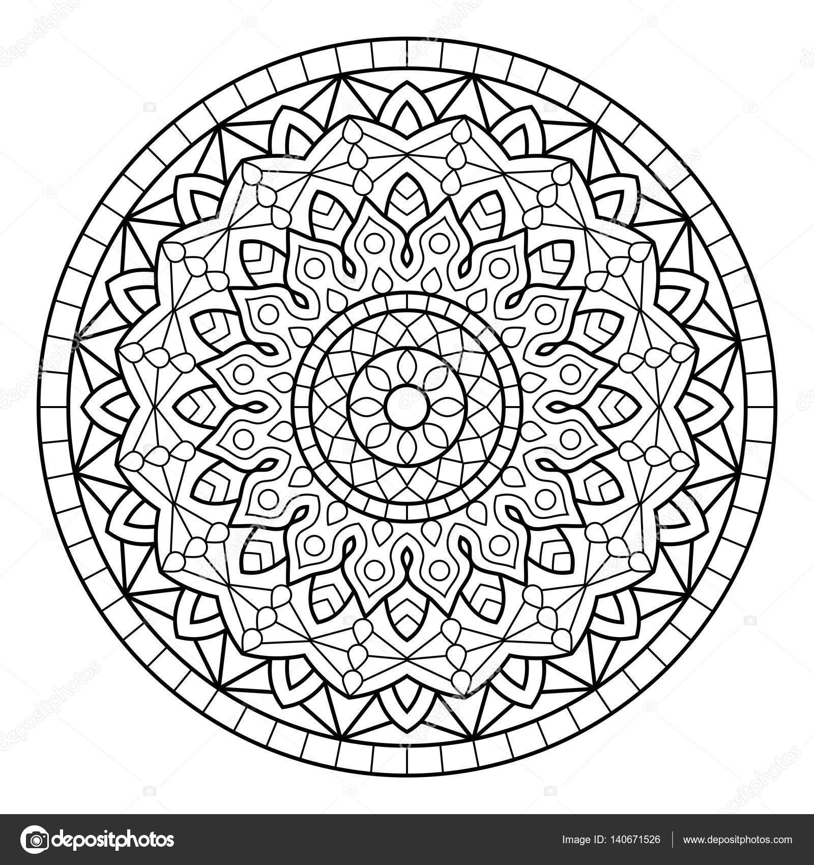 Mandala Boyama Kitabı Sayfaları Stok Vektör Jelisua88 140671526