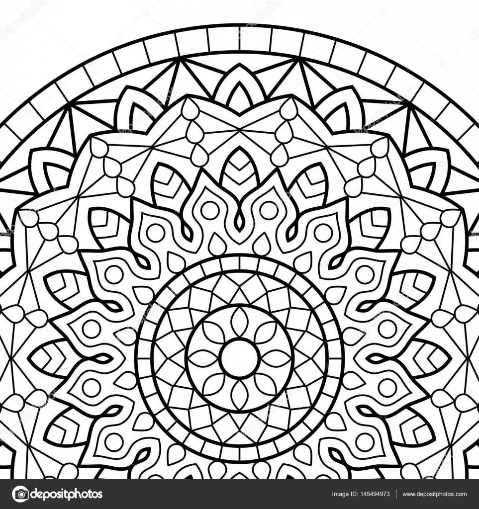 Dibujos para colorear libro. Mandala — Vector de stock © jelisua88 ...