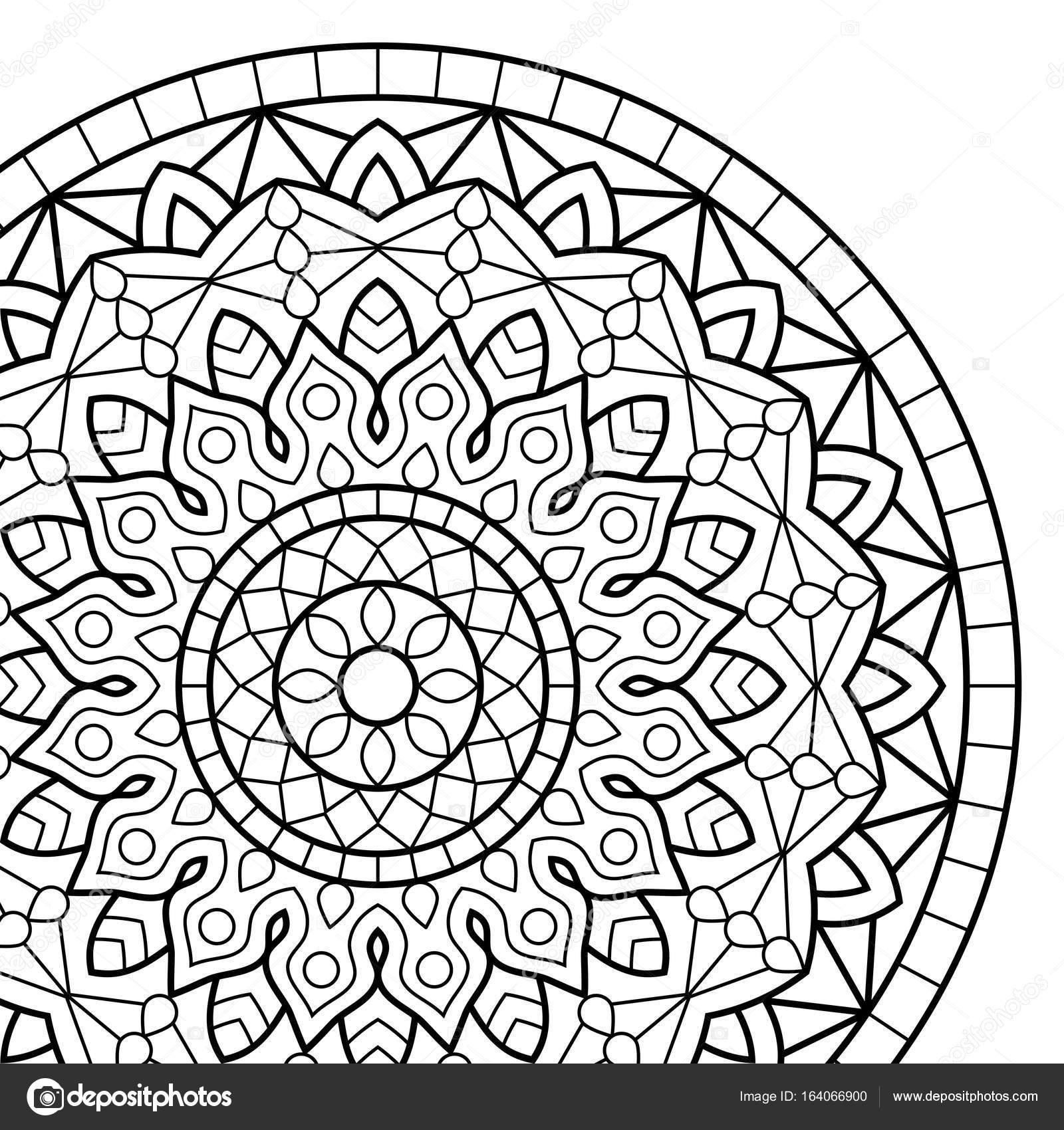 Malvorlagen Buch. Mandala — Stockvektor © jelisua88 #164066900