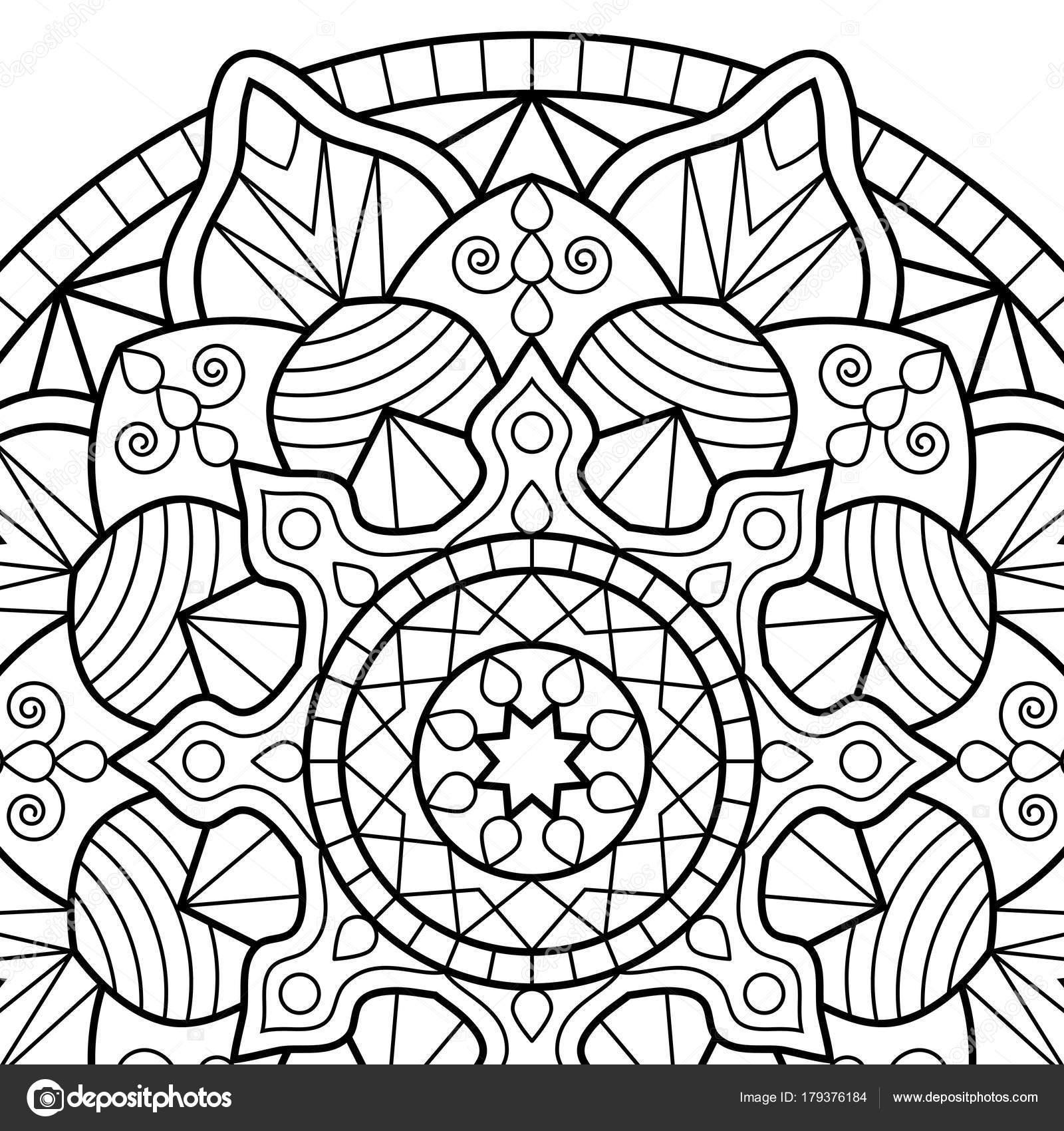 Mandalas antiestres para colorear   Dibujos para colorear libro
