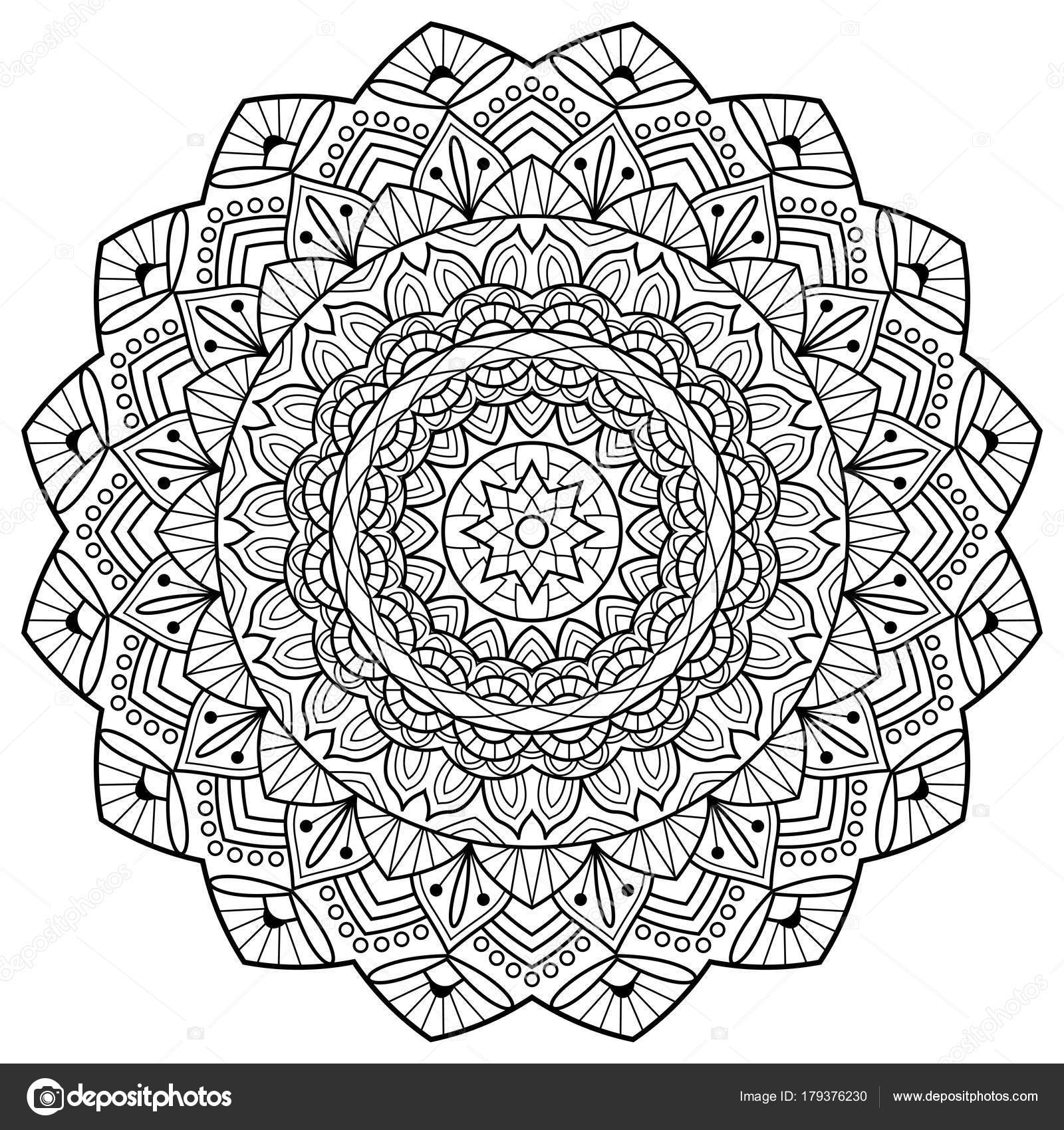 Livre De Coloriage Mandala Indienne Medaillon Anti Stress Image