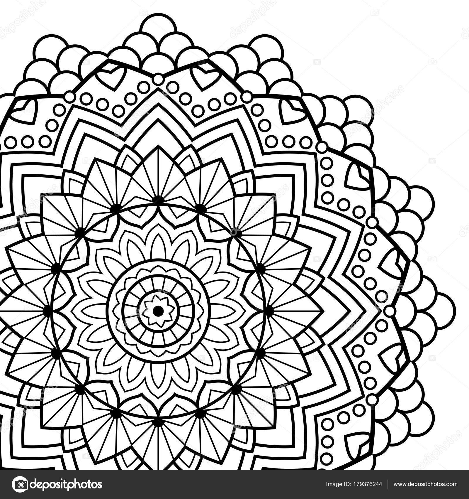 Malvorlagen Buch. Mandala. Indische antistress Medaillon ...