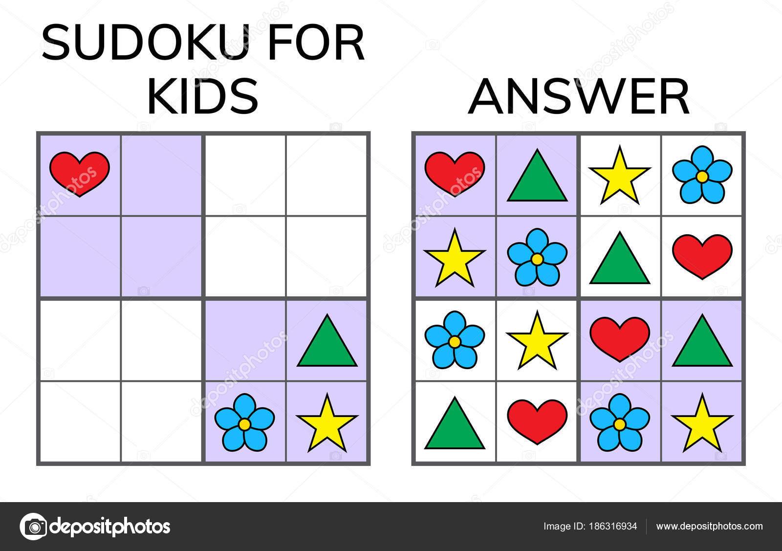 Sudoku. Kinder und Erwachsenen mathematisches Mosaik. Magisches ...