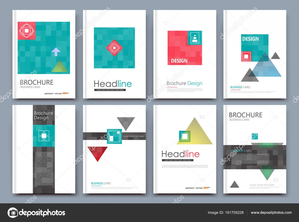 Abstract composition. White a4 brochure cover design. Patch info ...