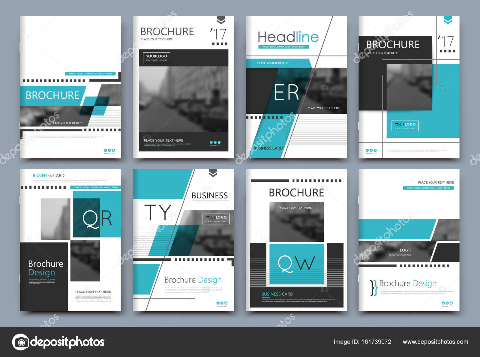 Abstract binder layout. A4 brochure cover design. Fancy info text ...
