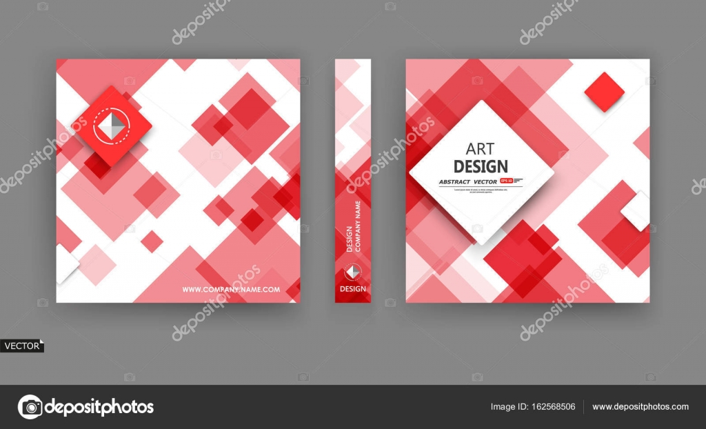 Title Sheet Model Set Ad Flyer Text Card Font With Elegant Box Block Texture Modern Vector Front Page Art Fancy Red White Colored Figure