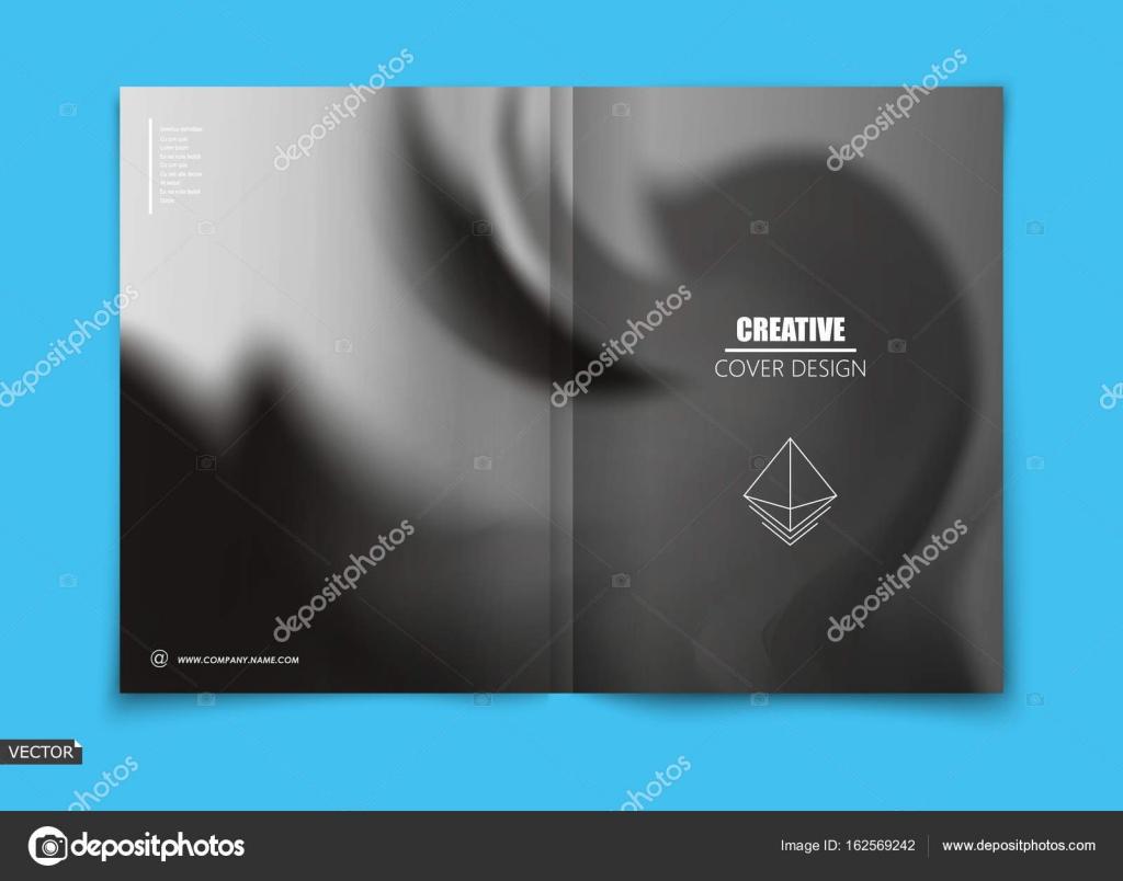 Blanco, negro diseño de carátula del folleto, información banner ...