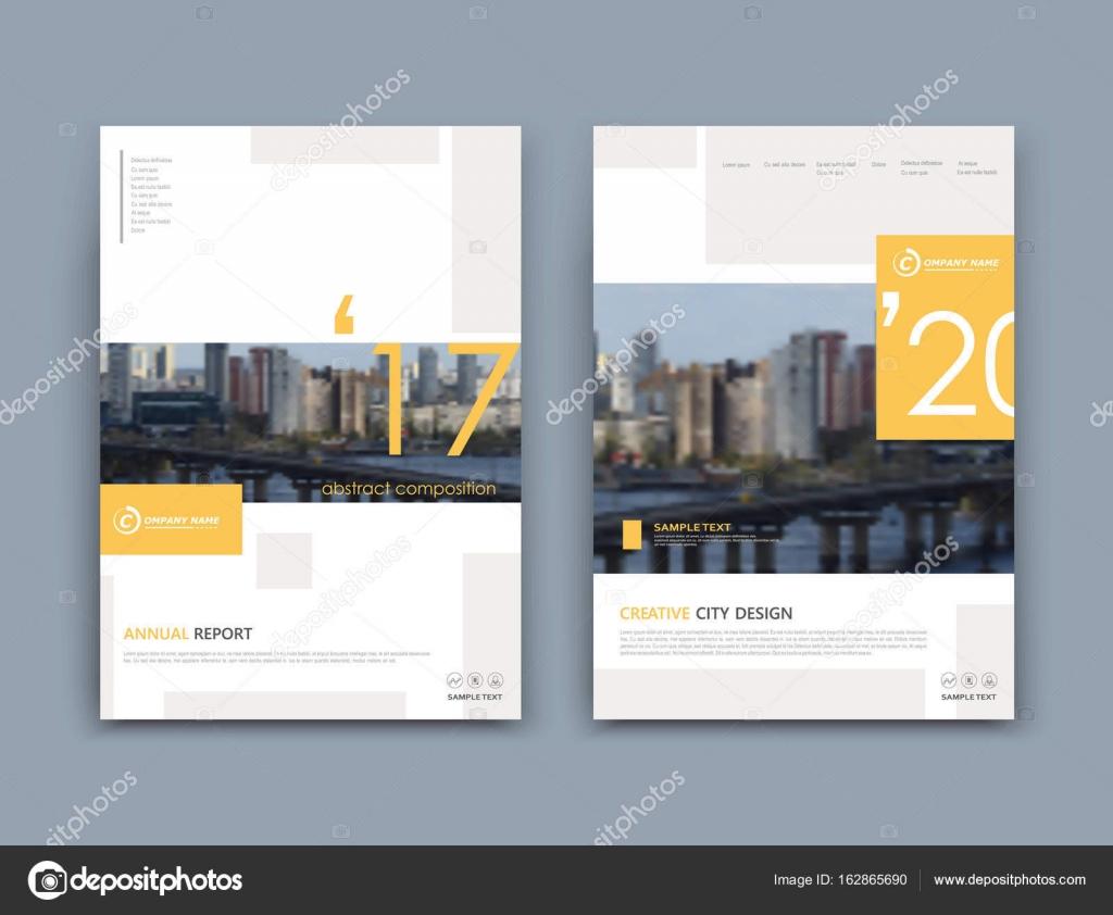 Abstrakte A4 Broschüre Cover Design Vorlage Für Infobanner