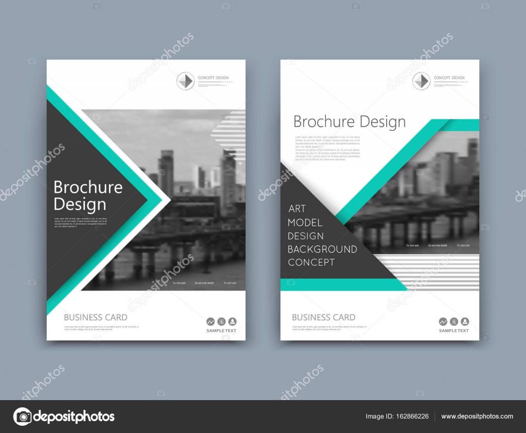 Design De Couverture Brochures A4 Abstraite Modele De Texte De La
