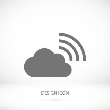 black rss cloud icon