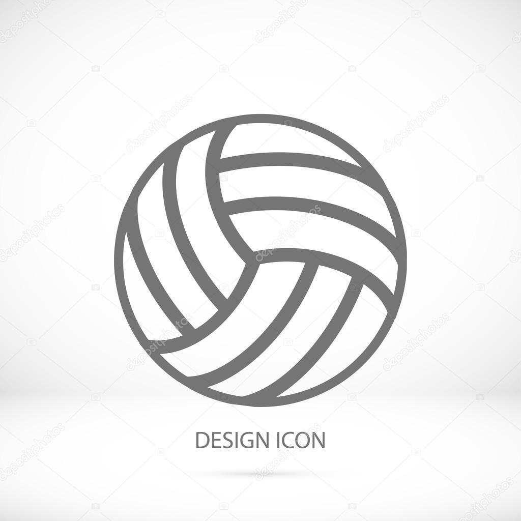 valleytball outline icon