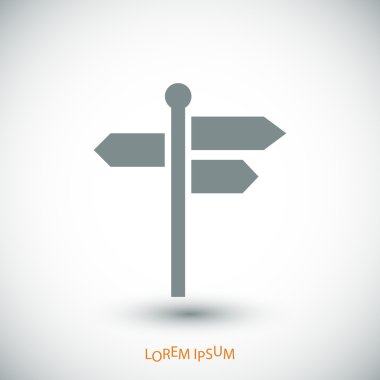 direction signpost icon