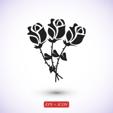 simple roses icon